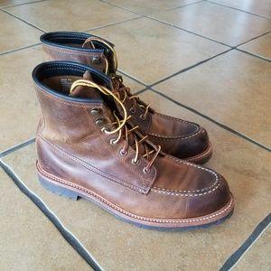 Mens Frye Boots DAKOTA sz.10.5 Lace Brown Leather